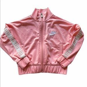 NIKE Full Zip Spell Out Jacket 2T Pink White